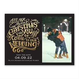 All We Want Holiday Save the Date