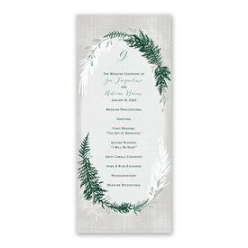 Sweet Evergreens Wedding Program