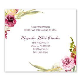 Wedding Reception Cards: Geo Rose Information Card