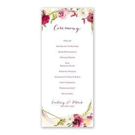 Geo Rose Wedding Program