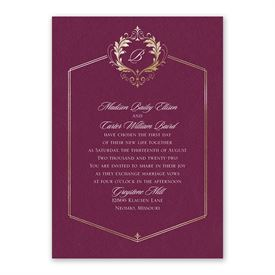 Royal Monogram Invitation with Free Response Postcard