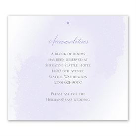 Wedding Reception Cards: Love and Life Information Card