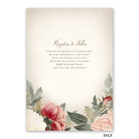 Blush Floral - Invitation with Free Response Postcard