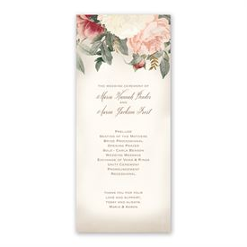 Blush Floral Wedding Program
