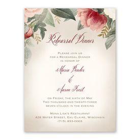 Blush Floral Rehearsal Dinner Invitation