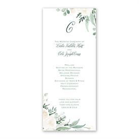 Painted Garden Wedding Program