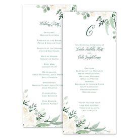 Wedding Programs: Painted Garden Wedding Program