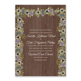 Floral Garland Invitation with Free Response Postcard