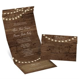 Rustic Glow Seal and Send Invitation