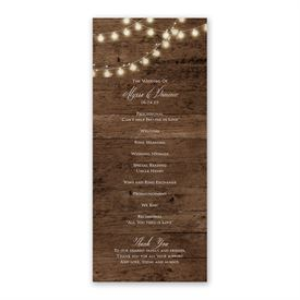 Rustic Glow Wedding Program
