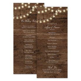 Wedding Programs: Rustic Glow Wedding Program