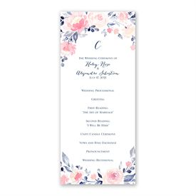 Blooms Abound Wedding Program