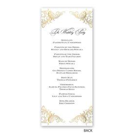 Gold Flourish - Wedding Program