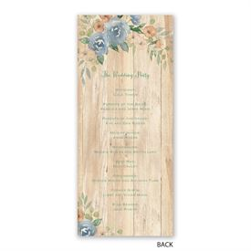 Country Blooms - Wedding Program