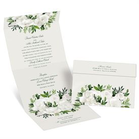 Lush Gardenias Seal and Send Invitation