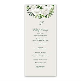 Lush Gardenias Wedding Program