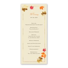Falling Leaves Wedding Program