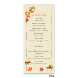 Falling Leaves - Wedding Program