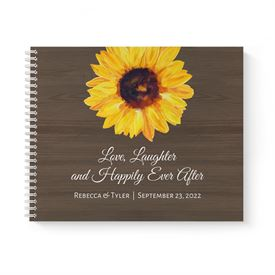 Country Sunflowers Guest Book