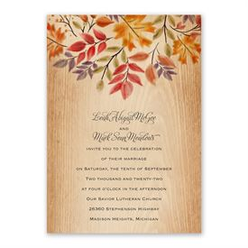 Rustic Fall Invitation with Free Response Postcard