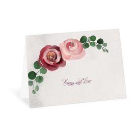 Wedding Thank You Cards: Burgundy Botanic Thank You Card