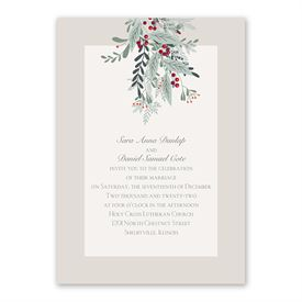 Under The Mistletoe Invitation with Free Response Postcard