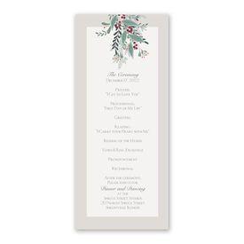 Under the Mistletoe Wedding Program