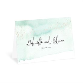 Watercolor Burst - Fern - Thank You Card