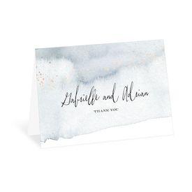 Wedding Thank You Cards: Watercolor Burst Thank You Card