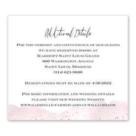 Watercolor Burst - Rosewood - Information Card