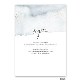 Watercolor Burst - Slate - Invitation with Free Response Postcard