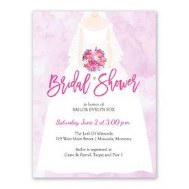 Cheap Bridal Shower Invitations: The Bride Bridal Shower Invitation