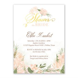 Pretty In Peach Bridal Shower Invitation