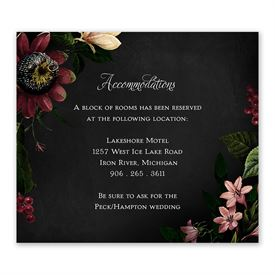 Wedding Reception Cards: Baroque Beauty Information Card