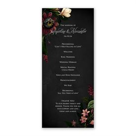 Baroque Beauty Wedding Program