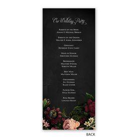 Baroque Beauty - Wedding Program
