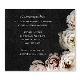 Wedding Reception Cards: Dark Floral Information Card