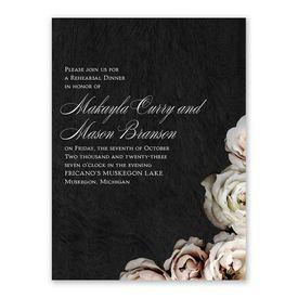 Dark Floral Rehearsal Dinner Invitation