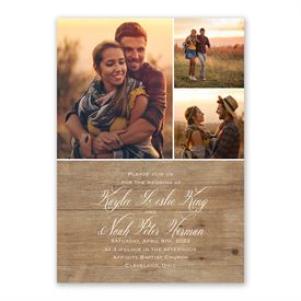 Rustic Photo Invitation with Free Response Postcard