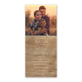 Rustic Photo Wedding Program