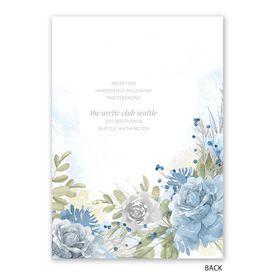Winter Blues - Invitation with Free Response Postcard