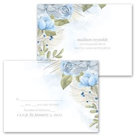 Winter Blues - Invitation with Free Response Postcard