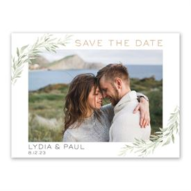 Greenery Frame Save the Date