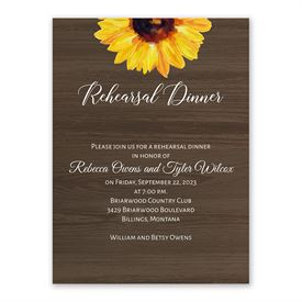 Rehearsal Dinner Invitations: Country Sunflowers Rehearsal Dinner Invitation