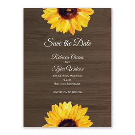 Country Sunflowers Save the Date