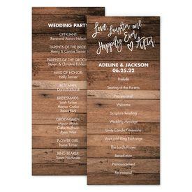 Wedding Programs: Love and Laughter Wedding Program