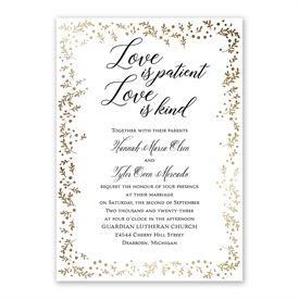Love is Patient Invitation with Free Response Postcard