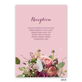 Floral Burst - Invitation with Free Response Postcard