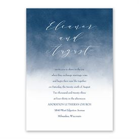 Ombre Invitation with Free Response Postcard