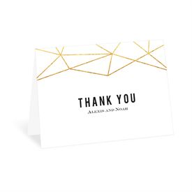 Wedding Thank You Cards: Gold Facets Thank You Card